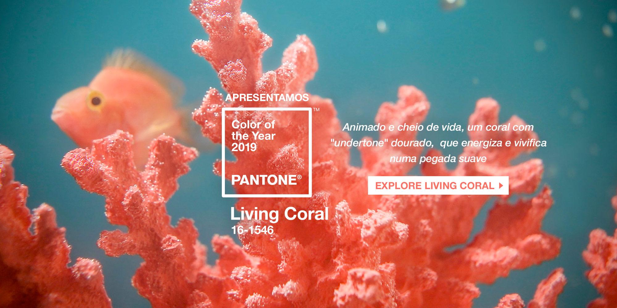Cor do Ano 2019 - Living Coral - Pantone