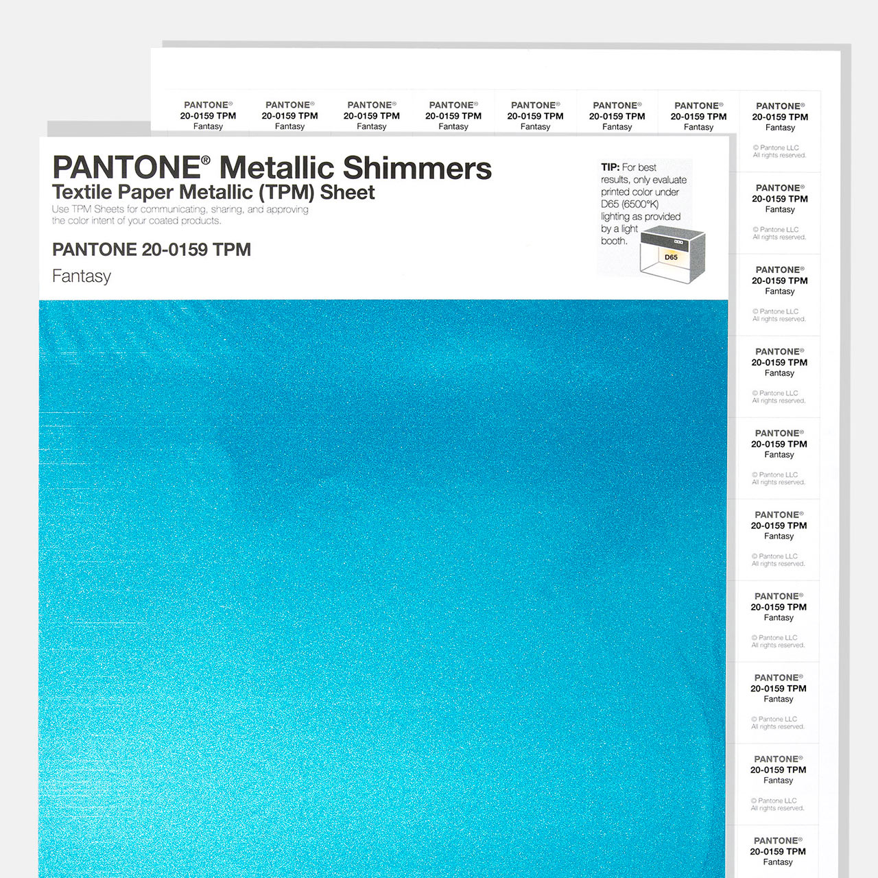 Pantone TMP Sheets - Metallic Shimmers