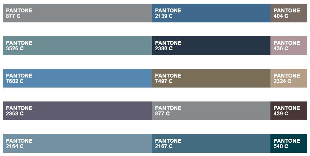 Paleta Urbana - Pantone